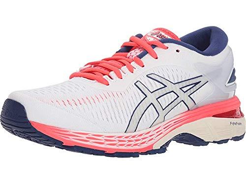 ASICS Women's Gel-Kayano 25 Running Shoes, 12M, White/White
