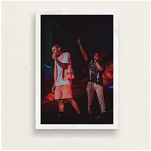 SDGW Tyler The Creator Hip Hop Music Star Art Painting Canvas Poster Imágenes E Impresiones para La Pared De La Sala De Estar Decoración del Hogar-50X75Cm Sin Marco