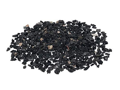 MKöpke® - schwarzer Turmalin Schörl - 200 g Granulat Kristalle Rohsteine natur | Gr. XS