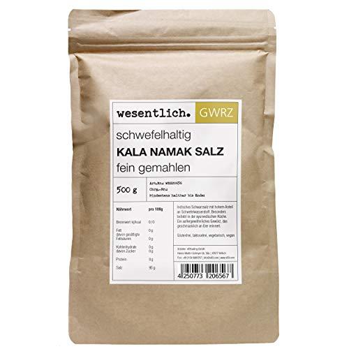 Kala Namak Salz 500g Feinstreu - reines Schwarzsalz - Gourmetsalz für die vegane Küche