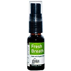 Image: Gaia Herbs, Fresh Breath Spray | Made with Organic and Ecologically Harvested Herbs | Convenient Size for Pocket or Purse