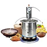 Xin Hai Yuan Kit de luz de la Luna Destilador Destilación Equipo de elaboración de Alcohol Distiller para Brandy Vodka Alcohol Que Hace la máquina,12L