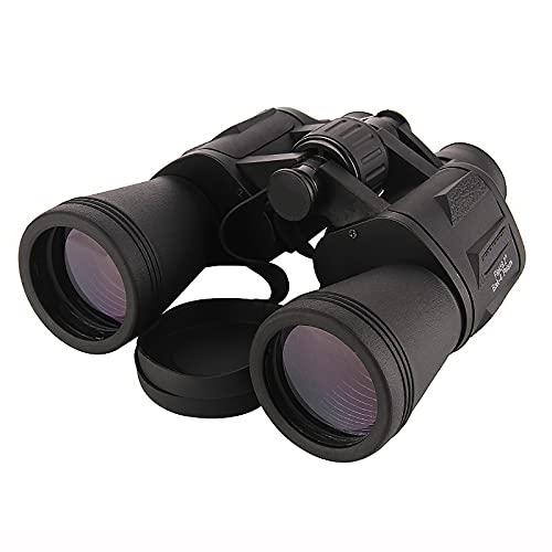 GAOXIAOMEI Potentes prismáticos para Adultos 20x50 binoculares Militares Impermeables de Alta Potencia Telescopio BAK4 Prism FMC Lens conciertos de Caza de observación Aves