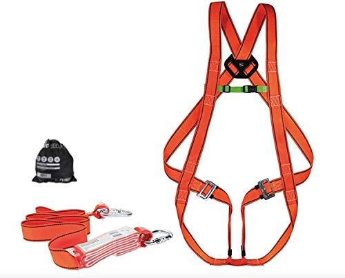 VITO Pro Absturzsicherung Dachdecker Set, Gerüstbau-Set, Fallschutz-Set nach CE, 2m Fallschutz, Auffanggurt Absturzsicherung Set, Max100kg, EN361 EN362 EN355 (Set1) Made in EU