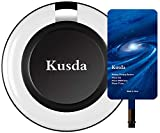 Qi iPhone Wireless Charger kit Kusda Wireless Charging Pad with iPhone Qi Receiver for iPhone 7 Plus, 7, 6s Plus, iPhone 6s, iPhone 6 Plus, iPhone 6, iPhone 5, 5s (IPhone Wiereless Charging Kit)