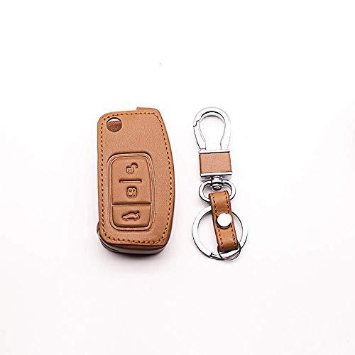 Accesorios para el coche Carcasas para llaves, funda para llaves de coche, funda para llaves, funda para llaves de coche para Ford Focus 2 Mk2 Focus 3 Mk3 Mk4, 3 botones, cuero, funda para l