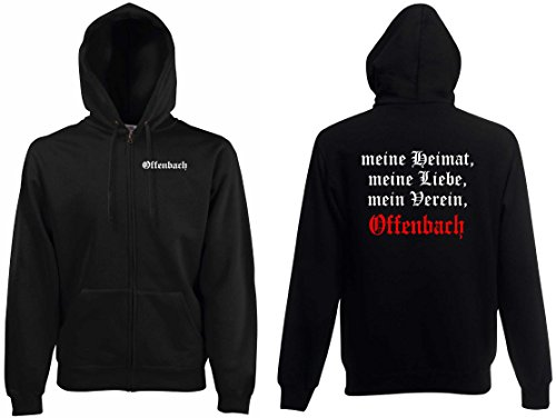 world-of-shirt Herren Kapuzenjacke Offenbach Ultras Meine Heimat