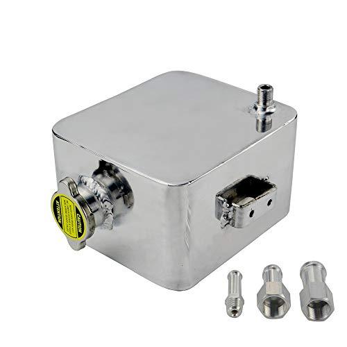 Super1Six Tanque de aleación de aleación Pulida de 2L litros y Tapa de Agua de encabezado de Agua de encabezado de Agua refrigerante de desbordamiento del Tanque (Color : Silver)