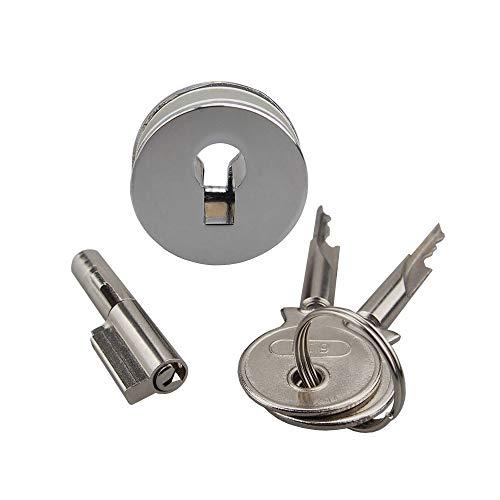 Bequem 100PCS Voll Key Glasschiebetüren Vitrine Lock Set Display-Gehäuseschloss Glastürschloss sicher (Color : All Keyed Alike)