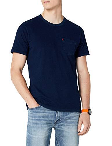 Levi's SS Set-in Sunset Pocket T-Shirt, Saturated Indiigo, XXS Uomo
