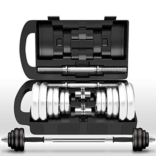 SKK Capacitación Ajustable levantando Pesas Juego de Pesos de Barra con 4 Collares y 2 Opciones de Conectores for Gimnasio en casa Entrenamiento de Culturismo Ejercicio (tamaño : 33lb)