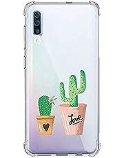 Oihxse Transparente Silicona Funda Compatible con Samsung Galaxy J6 Prime/J6 Plus/J610 Carcasa Ultra-Delgado Suave TPU Gel Airbag Esquinas Anti Rasguños Lindo Protector Case Bumper(A8)