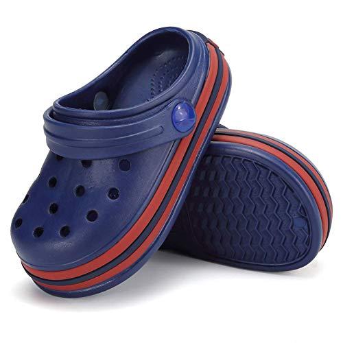 Scarpe da ginnastica per bambini con zoccoli, scarpe da ginnastica per bambini e ragazze, scarpe da ginnastica da giardino, per spiaggia e piscina, (Blu navy 3.), 20 EU