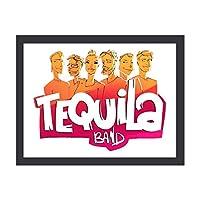 Tequila Band-La Güerita 装飾画 額縁付き インテリア 壁掛け 壁の絵 ウォールアート 北欧 部屋飾り シンプル 黒い枠 木枠額装絵画 アートフレーム モダン おしゃれ インテリアアート オフィス ダイニング 玄関 リビングと寝室の飾りアートパネル 写真 ソファの背景絵画 贈り物 取り付けやすい