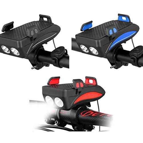 LED Fahrradbeleuchtung, 4 in 1 Fahrrad Licht/Handyhalter,Fahrrad-Frontleuchte Set,4 in1 Fahrrad-Telefon-Halter, Fahrrad Handyhalterung/Scheinwerfer,Mountainbike Leuchte, 3 Licht-Modi