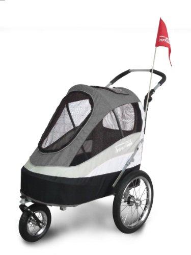 Innopet Tierbuggy, ips-055/AT, gratis Regen- und Windabdeckung inklusive, Hunde-Tragetasche, Trolley, Trailer,...