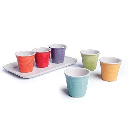 Color Life 47384 - Juego de tazas de cafe, color multicolor