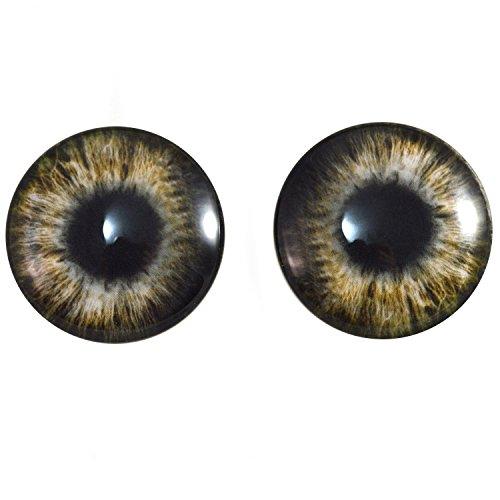 40mm Par de marrn Zombie cristal Ojos, para hacer de joyera, muecas, Esculturas, ms