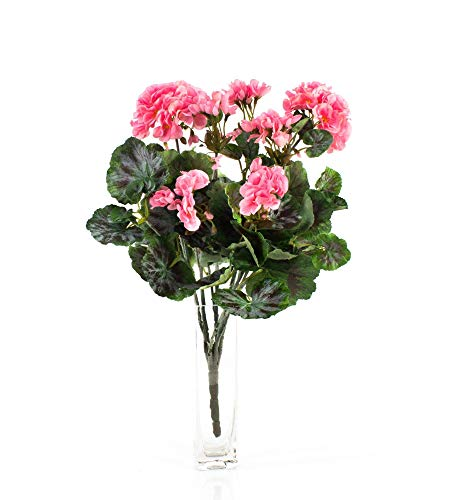 Decorativa Mata de geranios Merle, Rosa, 45 cm, Ø 25 cm - Planta Artificial/Flor sintética - artplants