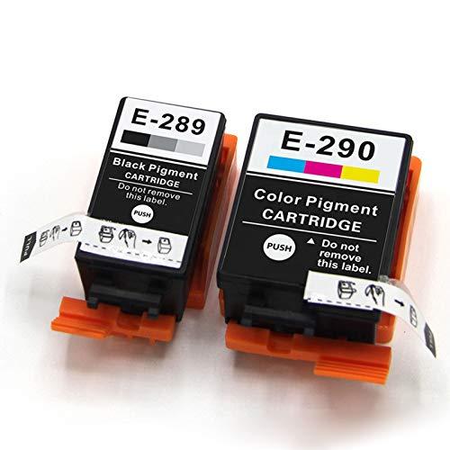 Cartucho de tinta compatible EPSON T289 T290, Reemplazo Negro y Color para EPSON T289 T290 Para usar con la impresora Epson WF-100