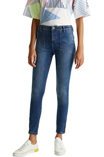 edc by ESPRIT Damen 030CC1B326 Jeans, 902/BLUE MEDIUM WASH, 29/28