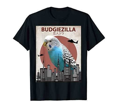 budgiezilla | Wellensittich T-Shirt für Wellensittich Sittich Liebhaber
