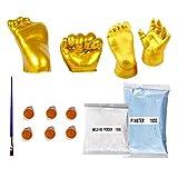 Congci Gipsabdruck Set Hand und fuß,3D Handabdruck Set,3D Hands Casting Kit Baby Hand Fuß Memory...