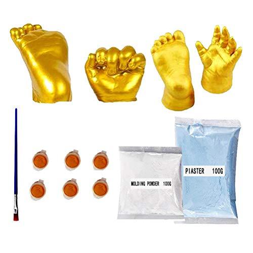Kit de fundición para manos y huellas de bebé para hacer yeso...
