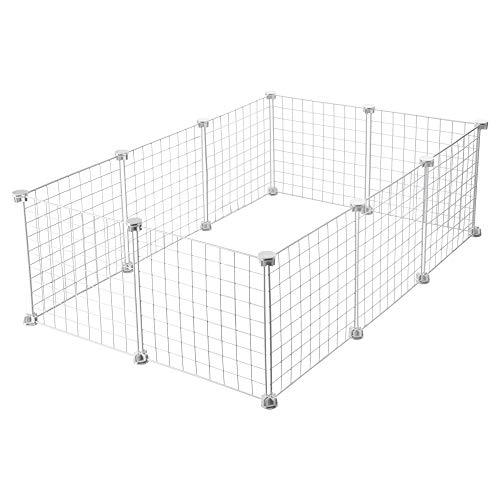 CagesCubes - Jaula CyC Medium para cobayas (2X3 Paneles en Blanco)