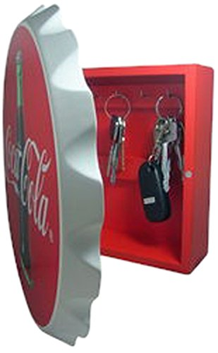 Sunbelt Gifts Key Box, Wood, Contour Bottle Crown, Multi