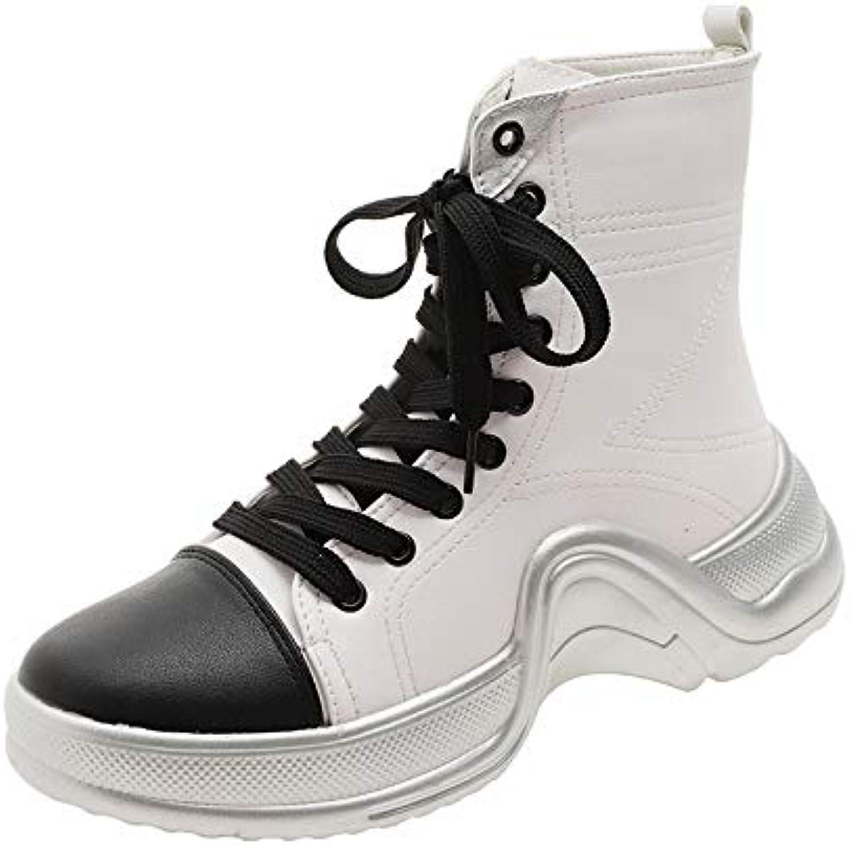 Top ShishangFrauen Stiefel Farbe Passenden Martin Stiefel Stiefel Stiefel dick besohlten Muffin Retro Stiefel hoch  a168b3