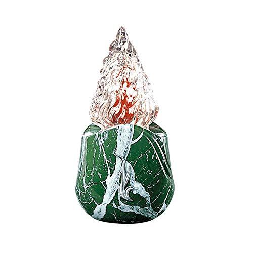 REAL VOTIVA FONDERIE D'ARTE Lámpara de Bronce - Acabado mármol Verde Guatemala - Línea Olla (20 cm, Montaje en Suelo) [T.04.3059/20]