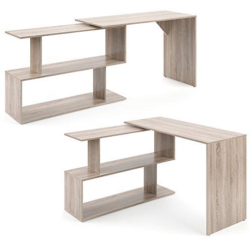 VICCO Eckschreibtisch Schreibtisch LEVIA - PC Tisch Winkelkombination Arbeitstisch Computer Büro +++ 3 Dekore +++ (Sonoma Eiche)
