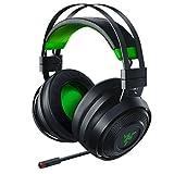 Razer Nari Ultimate for Xbox One Wireless 7.1 Surround Sound Gaming Headset: HyperSense Haptic Feedback - Auto-Adjust Headband - Retractable Mic – For Xbox One, Xbox Series X & S - Black/Green