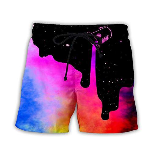 Pantalones cortos informales europeos y americanos en 3D para hombre con impresión digital K5. 42