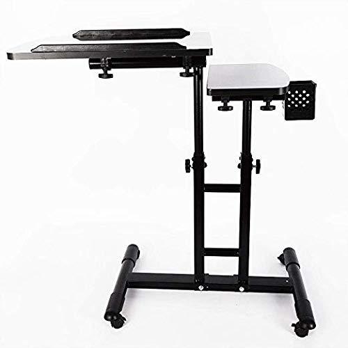 OUBAYLEW Portatile grande Tattoo Work Station Tavolo da scrivania per attrezzature da disegno regolabile Pro Tattoo Tray (65-97 cm) Ruota di 360 gradi