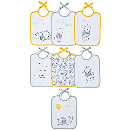 Babycalin DIS201004 Lätzchen, 20 cm x 25 cm, Disney Winnie, Packung mit 7 Stück, Mehrfarbig, 7 unidades
