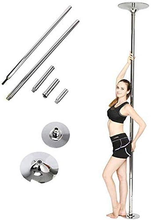 palo da pole dance altezza regolabile puo'essere sia statico sia girevole facile da montare  femor b01c5lebpg