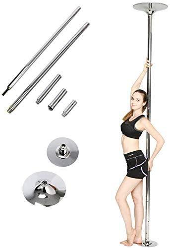 Femor Palo Pole Dance per Casa,Gym e Bar 45 mm Dancing Pole Altezza Regolabile puo'essere sia Statico sia Girevole Facile da Montare