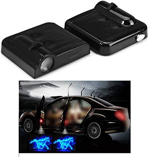 NewL 2x Wireless Projektor Autotür Schritt mit freundlicher Genehmigung Welcome Lights Puddle Ghost Shadow LED-Leuchten (Pferd)