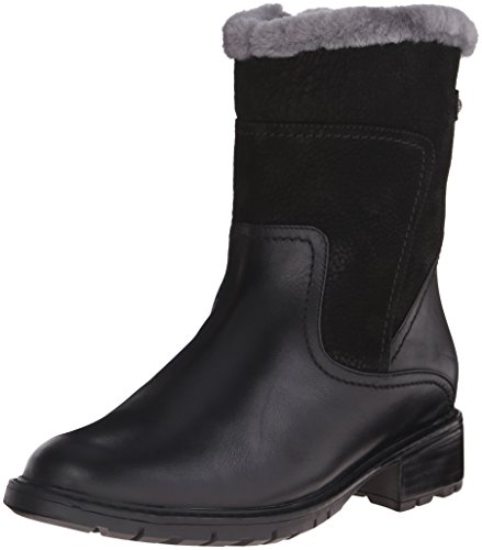 Blondo Women's Victory Waterproof Riding Boot, Black Leather, 6 M US