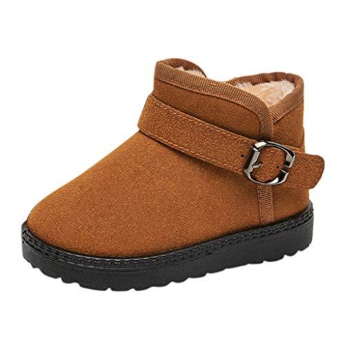HDUFGJ Unisex Baby Stiefel Booties Plus Velvet Keep warm Winter Boots Snow Boots Kleinkind Schuhe weiche Krippe Kleinkind Schuhe Canvas Sneaker Toddler shoes22.5 EU(Braun)