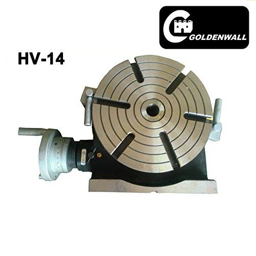 CGOLDENWALL hv-14Vertikale und horizontale Rotary Arbeiten Tisch 350mm Mühle & Bohrer Maschine Arbeiten Tisch