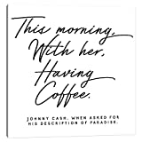 iCanvas HON142 Johnny Cash Description of Paradise Quote Canvas Print by Honeymoon Hotel, 18' x 18' x 0.75' Depth Gallery Wrapped