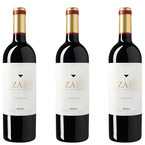 Izadi Vino Tinto Reserva - 3 botellas x 750ml - total: 2250 ml