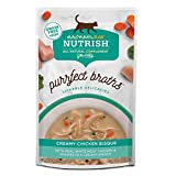 Rachael Ray Nutrish Purrfect Broths Natural Wet Cat Food, Creamy Chicken Bisque with White Meat Chicken & Veggies Recipe, 1.4 Ounce Pouch (24 Count), Grain Free