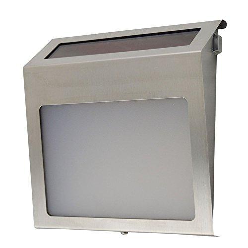 Lampe solaire LED d'extérieur à énergie solaire 3 LED pour plaque de porte, numéro de maison