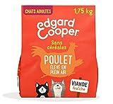 Edgard & Cooper Croquettes Chat Adulte Stérilisé ou Actif sans Cereales Nourriture Naturelle Poulet Frais 1.75kg, Alimentation Saine savoureuse et équilibrée, Protéines de qualité supérieure