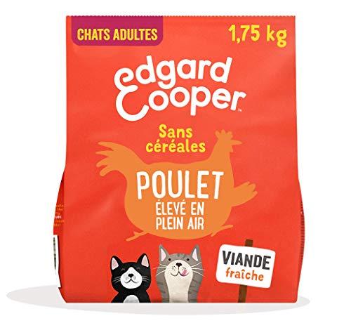 Edgard & Cooper Croquettes Chat Adulte Stérilisé ou Actif sans Cereales Nourriture Naturelle 1.75kg Poulet Frais, Alimentation Saine savoureuse et équilibrée, Protéines de qualité supérieure