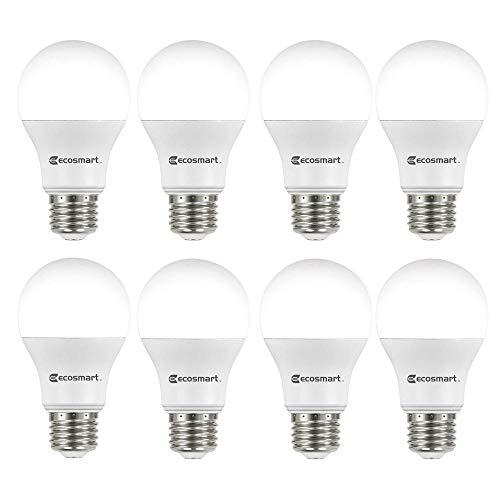 (8-Pack) EcoSmart LED Dimmable 100-Watt Daylight Light Bulb, A19, 1680-Lumen, 5000K, E26 Base